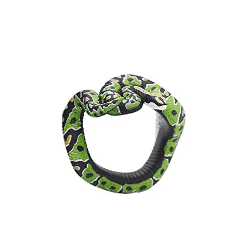 Nivalkid Simulation Resin Animal Python Bracelet Handmade Painted PVC Material Toy Hand-painted Environmentally Friendly PVC Material Eur and Am Scary Spoof Toy Jewelry (C) -