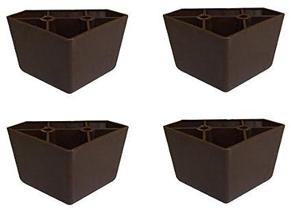 Awesome Amazon Com Brown Triangle Plastic Sofa Legs Set Of 4 Best Image Libraries Weasiibadanjobscom
