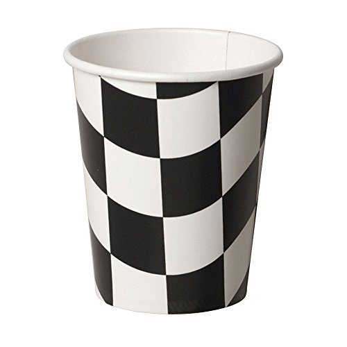 Black and White Check 9 oz. Paper Cups (8)