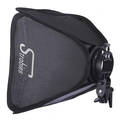 Interfit Photographic Strobies S-Type Speedlight Bracket and 16x16 Softbox Kit, Includes Internal Diffuser, Outer Diffuser, Nylon Carrying Bag