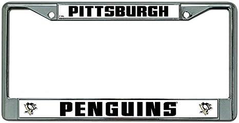 NHL Chrome License Plate Frame