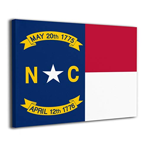 Pksistcol North Carolina Flag Canvas Painting Frame 16x20 Wall Modern Art Decor]()