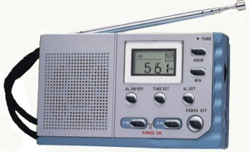 Kaito KA208 Mini size AM/ FM radio with LCD digital display, KA208