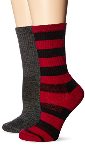 (High Ridge Gear Women's High Ridge Gear Hiker Sock 2 Pack,Black Cerise/Solid)