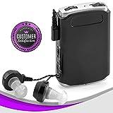 MEDca Amplificador de Sonido – Dispositivo mejorador de Voz de Bolsillo con micrófono Dual/oído Plus Extra Auriculares y micrófono Set, Dispositivo Amplificador de audición Personal
