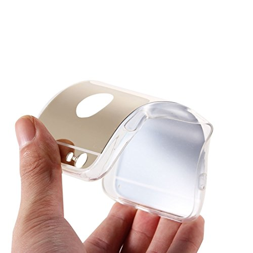 Phone Taschen & Schalen Galvanisierungsspiegel TPU Schutzhülle für iPhone 6 Plus & 6s Plus ( Color : Gold )
