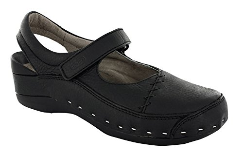 Comfort Black 06015 Wolky Cloggy Clogs Strap 7FaxdTqw