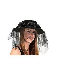 Black Spanish Hat With Veil