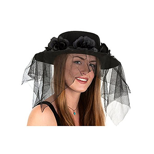 Black Spanish Hat With Veil product image