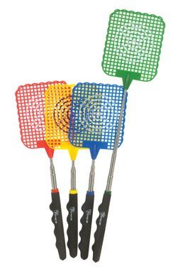 Diamond Visions Extendable Fly Swatter Rubber 27'' Assorted Colors by Diamond Visions