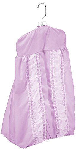 Baby Doll Sweet Touch Baby Crib Diaper Stacker, Lavender