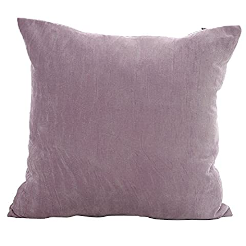 Deconovo Light Purple Corduroy Throw Cushion Case Pillow Cover for Chair, 18x18-inch