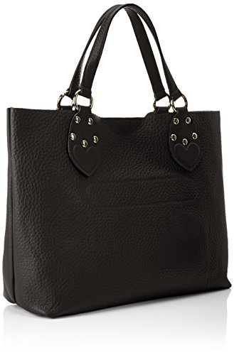 Twin Set As8pfc, Borsa a Spalla Donna, 13,50x30x37 cm (W x H x L) Nero