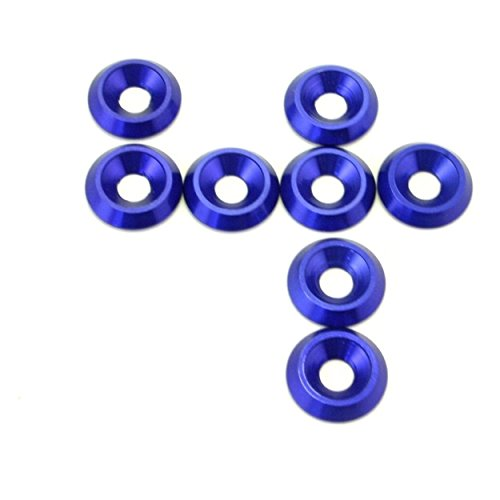 Hot Racing CW34906 Blue Aluminum 4mm Countersunk Washer (8)