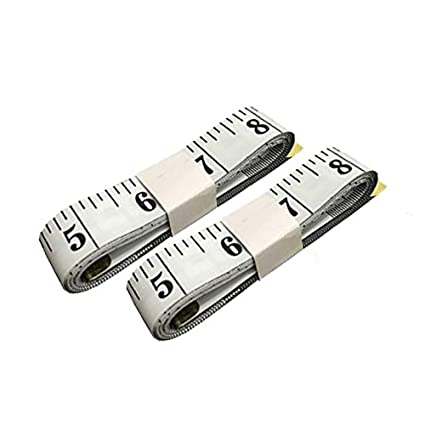 SumVibe 79 Inches/200cm Soft Tape Measure, Pocket Measuring Tape for Body Sewing Tailor Cloth Medical Measurement, White 2-Pack