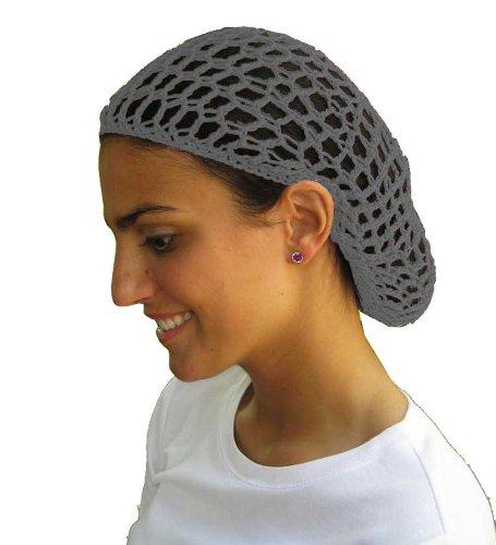UPC 632181225103, Grey Hair Net - Snood - Crochet Hair Net Snood In Grey