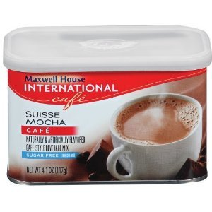 Maxwell International Cafe Cafe-Style Sugar Free Suisse Mocha Cafe Beverage Mix 4.1 OZ (Pack of 24) by MAXWELL HOUSE