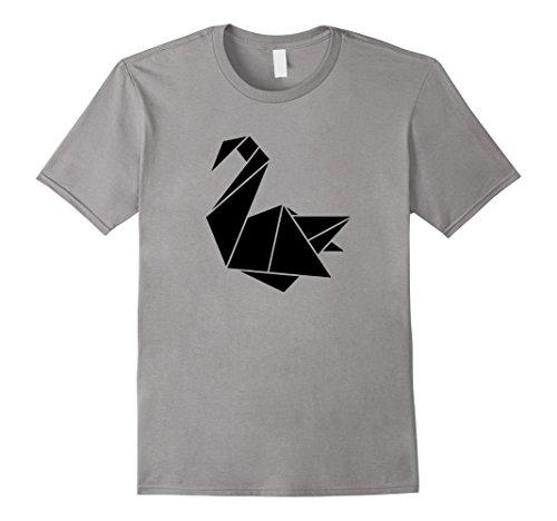 Mens Cute Japanese Origami Swan Art | Unique Japan T-Shirt & Gift Small (Origami Swan)
