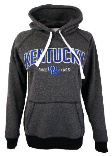 Zokee Ladies Kentucky Colorblock Sparkle Hood (Small) (Uk Wildcats Womens Sweatshirt)