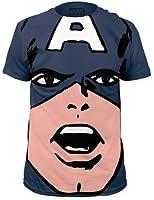 Captain America Big Face Marvel Comics Superhero Adult T-Shirt Tee