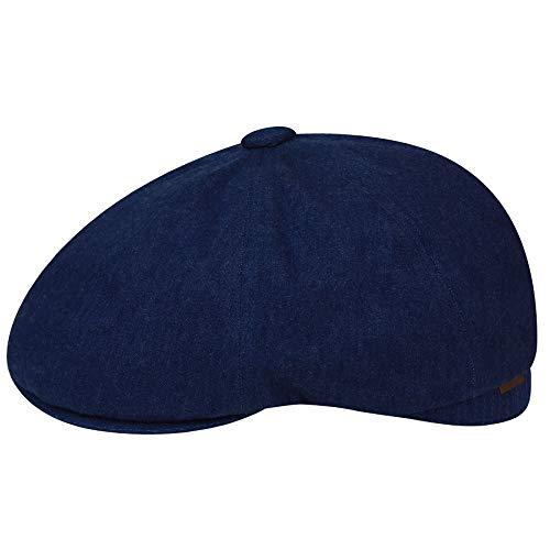 - Kangol Men's Quilted Denim Hawker Flat Newsboy Cap HAT, Indigo, M