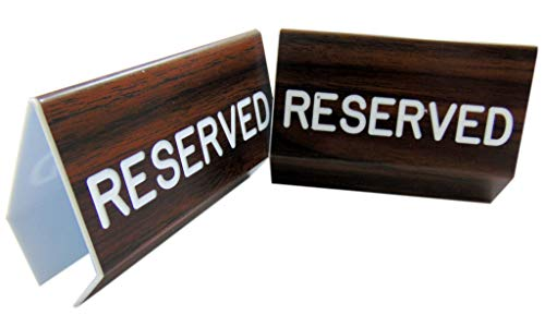 Reserved Sign for Church Pews with Two Sided Script and Easy Clamp On Attachment, Set of 2 (Pews Sale Used For Church)
