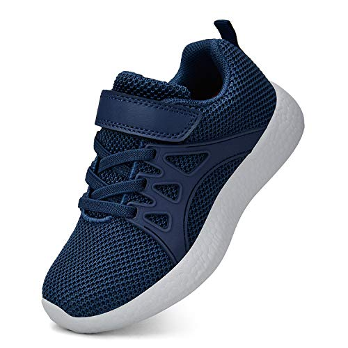 MARSVOVO Boys Running Walking Shoes Lace-up Kids