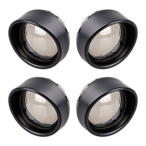Front Rear Smoked Black Visor Style Turn Signal Bezels Cover Replacement for Dyna Softail Sportsters Touring