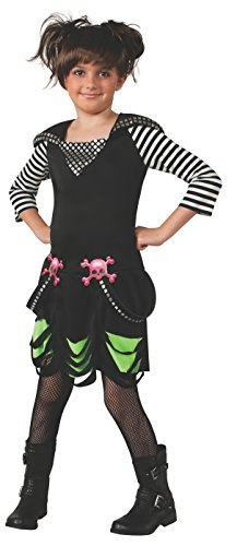 Rubies Goth Rock Costume Dress, Medium (Goth Halloween Costumes For Kids)