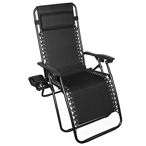 Odaof Zero Gravity Recliner Lounge Patio Pool Chair, Black Review