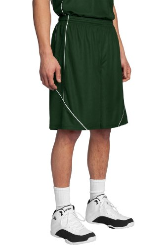 Sport-Tek Men's PosiCharge Mesh Reversible Spliced Short S Forest Green