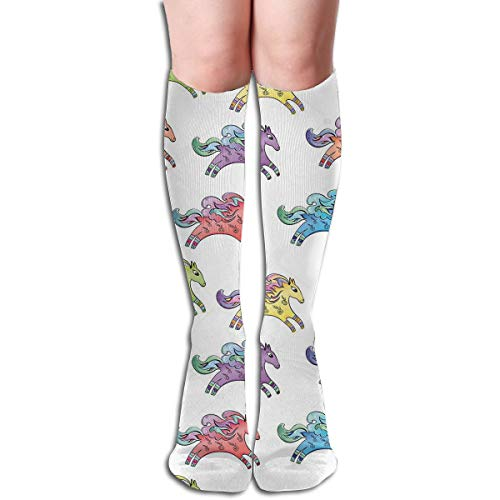 Bandnae 19.68 Inch Compression Socks Horse Colorful Animal High Boots Stockings Long Hose for Yoga Walking for Women Man