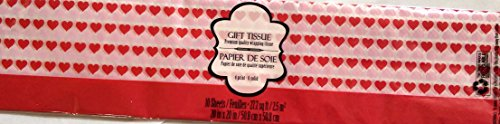 Pink & Red Hearts Tissue Paper ~ Valentine's Day, Romance or Wedding