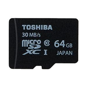 東芝 microSDXC 64GB Class10 30MB/s UHS-I 防水 耐X線 日本製 TOSHIBA 海外向けパッケージ品