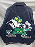 G-III Notre Dame Fighting Irish Men's 5X-Large Full Zip Super Big Logo All Leather Jacket