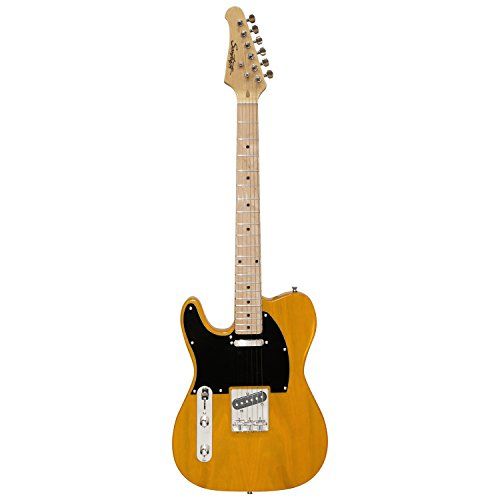 Sawtooth ST-ET50-LH-BSB Classic ET 50 Ash Body Left-Handed Electric Guitar - Butterscotch with Black pickguard