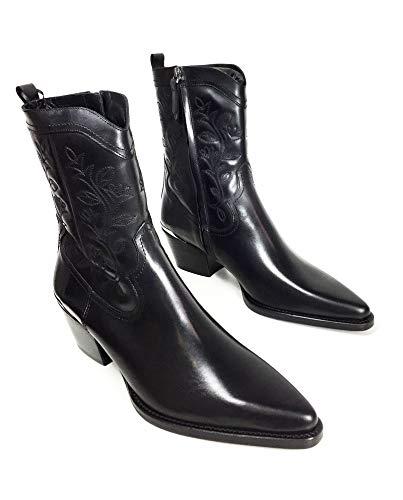 Stiefeletten Damen Massimo Aus Cowboy Schwarze Leder Dutti uFKT13c5lJ