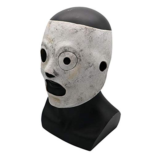 cherrysong Slipknot Mask Latex Corey Taylor Halloween Cosplay Costume, Theme Horror Halloween Fancy Dress Up Mask, Men Adult Latex Face Masks with Satin Ties]()