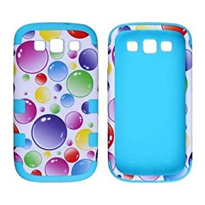 hao Colorful Bubble Pattern Protective Silicone Case for Samsung Galaxy S3 i9300 , Blue