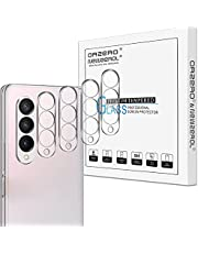 (4 Pack) Orzero Camera Lens Protector Compatible for Samsung Galaxy Z Fold 3 5G, Tempered Glass 2.5D Arc Edges HD Bubble-Free (Lifetime Replacement)