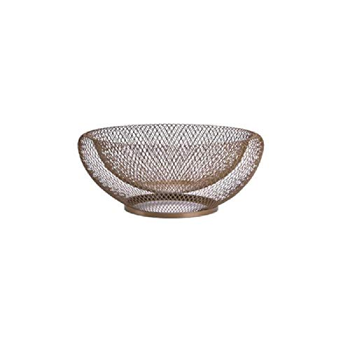 - Dyna-Living 2 tiered Mesh Net Metal Fresh Fruit Container Basket Simple Art Iron Wire Organizer Vegetable Rack Storage Holder Table Bowl Artificial Display Cool Gift Round Shelf Strainer