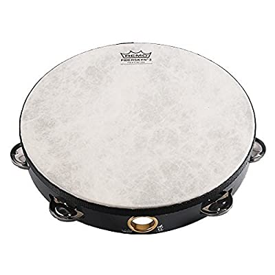 Remo 10 inch Fiberskyn Tambourine (Single Jingle; Black; Age 12+): Toys & Games