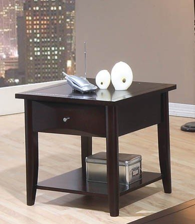 Whitehall End Table w/ Shelf & Drawer by Coaster