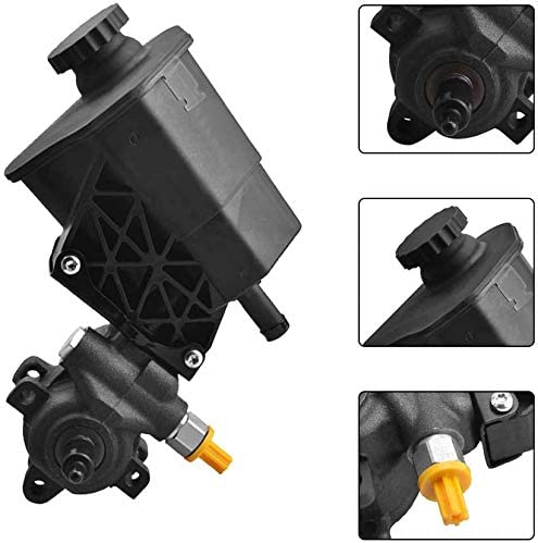 Dodge Power Assist Pump Power Steering Pump Compatible with 2003-2007 Ram 2500//3500//4000 Reservoir with Pulley Replace #52106842AE