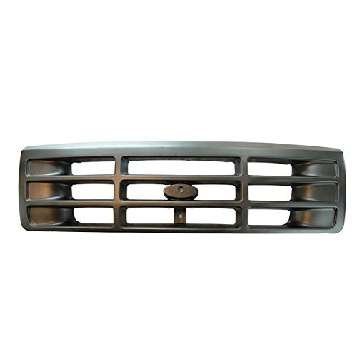 Bronco Ford Assembly 96 Grille (92-97 F-Series Pickup Truck Front Grill Grille Assembly Argent/Gray F6TZ8200AAA)