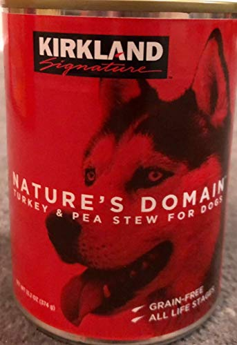 24 (13.2 Oz Each) Cans Nature's Domain Kirkland Turkey and Pea Stew Dog - Grain Dog Free Kirkland Food