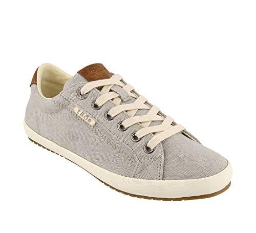 Taos Footwear Women's Star Burst Grey/Tan Sneaker 9.5 M US