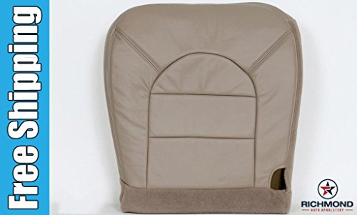 2000 Ford F-350 Lariat Driver Side Bottom Replacement Leather Seat Cover, Tan