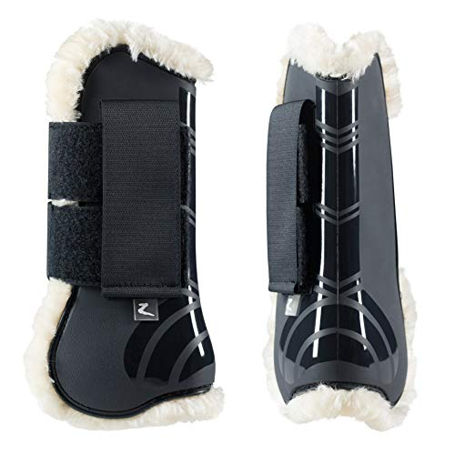 HORZE Caliber Tendon Boots with Pile Lining, Dark Navy, Pony