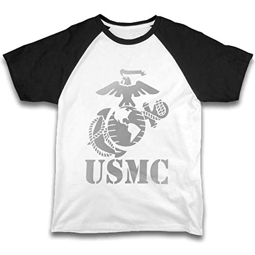 Girls Boys Printed Short-Sleeve T-Shirt Eagle Globe Anchor USMC Marine Corps Black